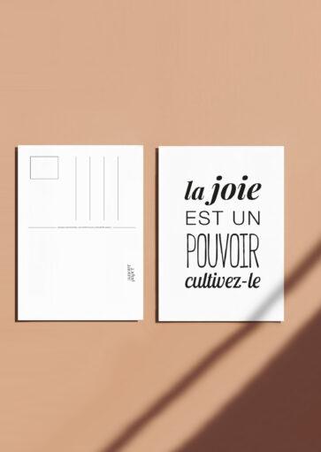 Carte postale La joie est un pouvoir, cultivez-le