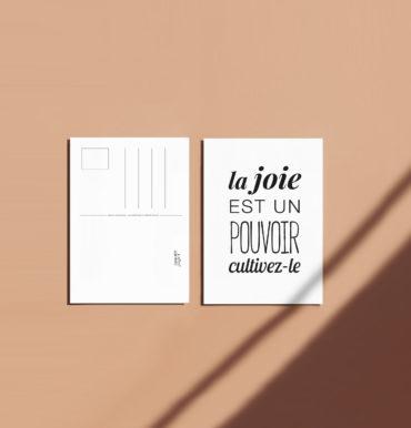 carte a message joie pouvoir