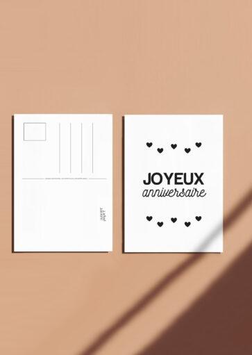Carte postale Joyeux anniversaire