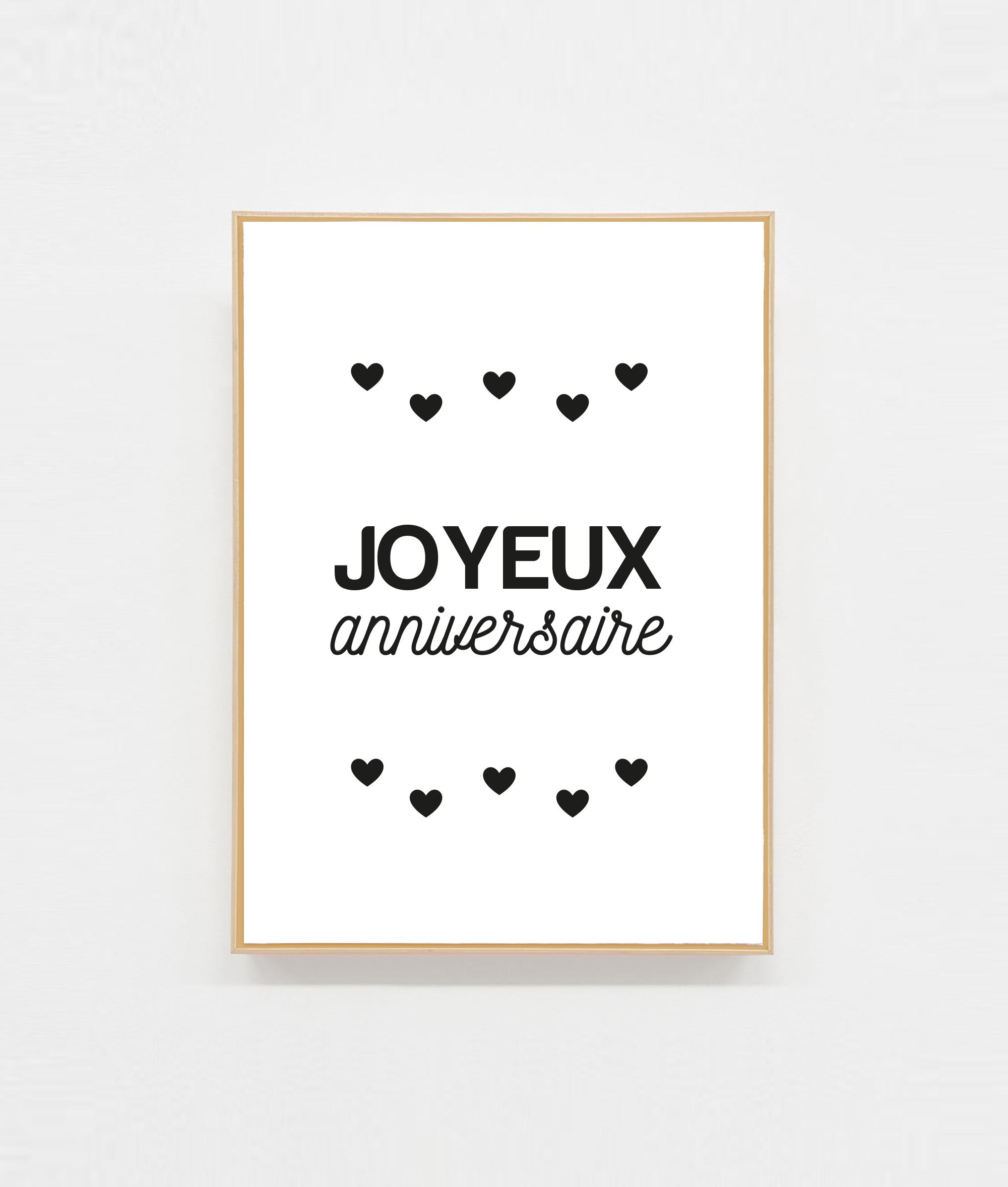 Carte Postale Joyeux Anniversaire E Shop Papeterie Amour Paper
