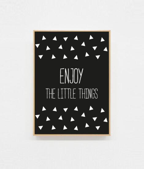 Carte postale motivation Enjoy the little things