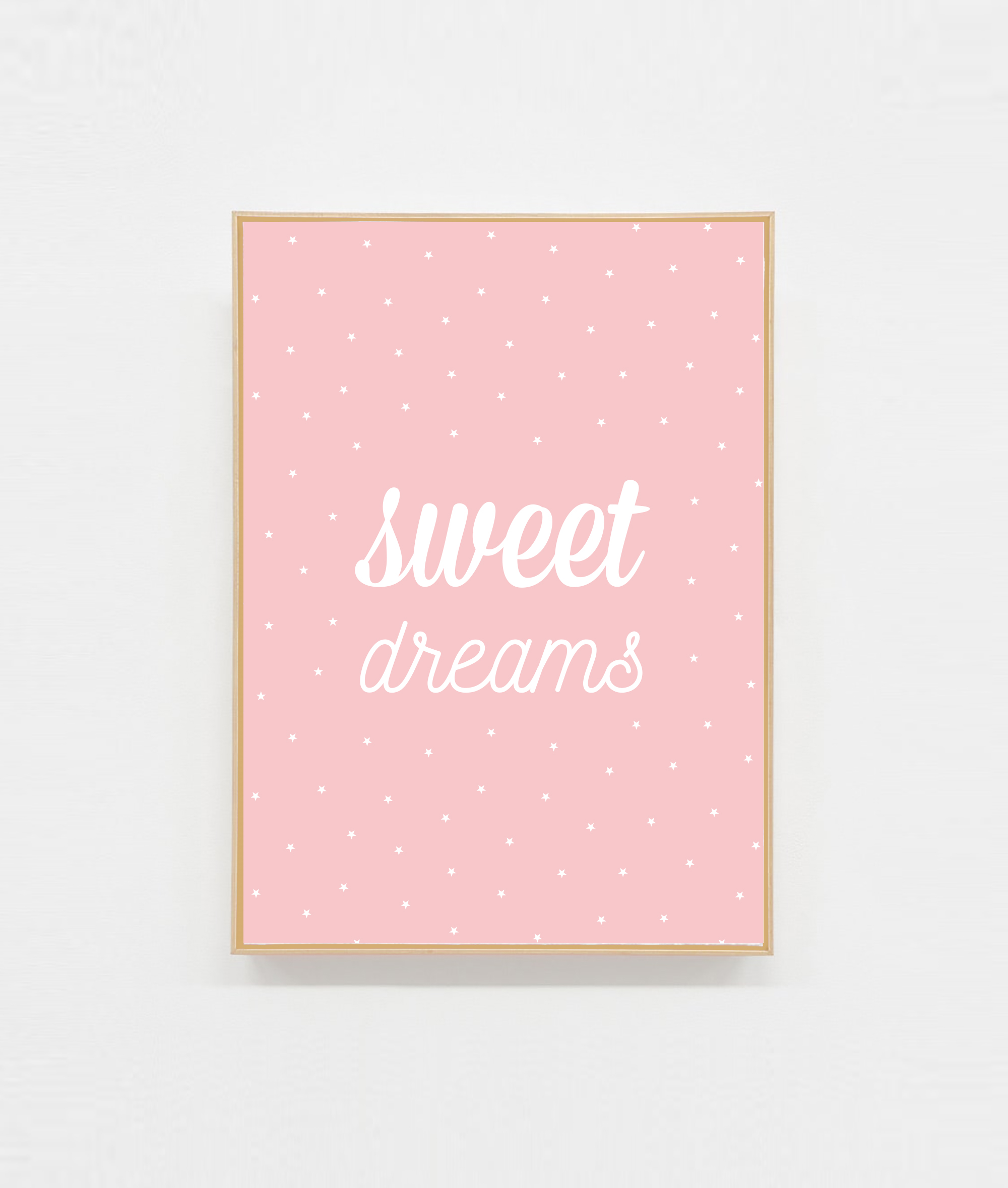 Carte postale sweet dreams chambre fille
