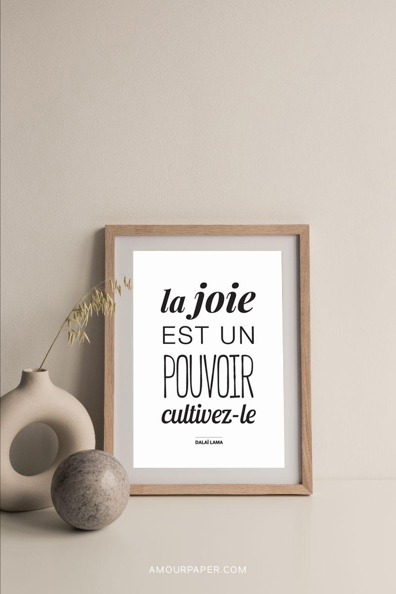 affiche decoration citation positive joie