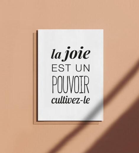 carte postale à message positif et motivant joie