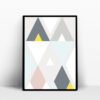 triangle scandinave affiche decoration
