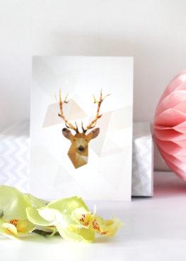 Carte postale Cerf
