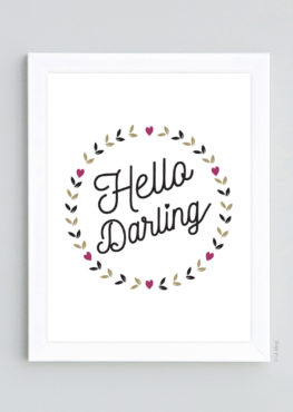 Affiche Hello Darling