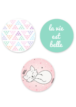 "Lot de 3 magnets ""Pastel graphic"""