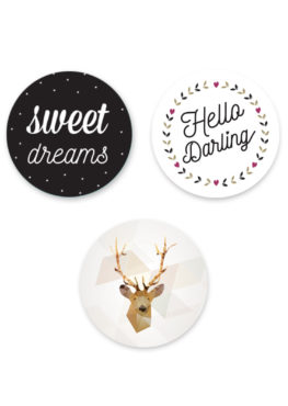 "Lot de 3 magnets ""Sweet color"""