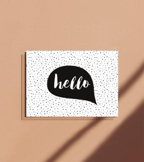 Carte postale message Hello