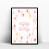 enjoy today affiche positive couleur pastel
