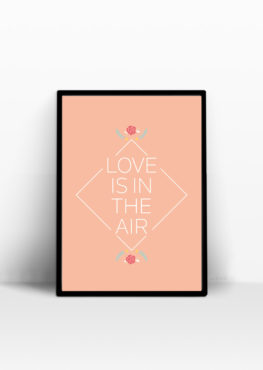 Affiche Love is in the air