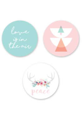 "Lot de 3 magnets ""Spring love"""