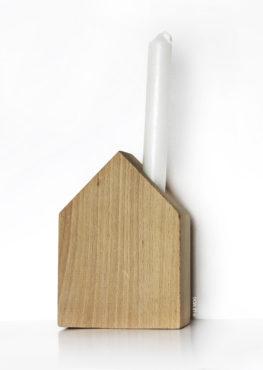 Bougeoir maison en bois