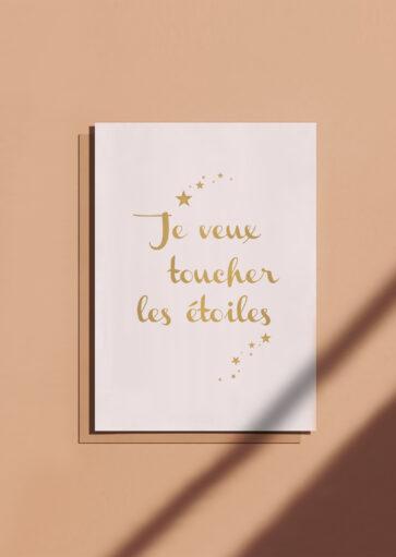 Carte postale Je veux toucher les étoiles