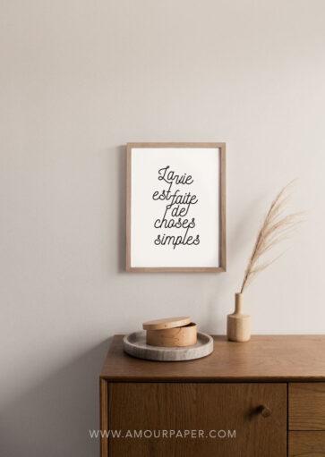 Affiche La vie est faite de choses simples