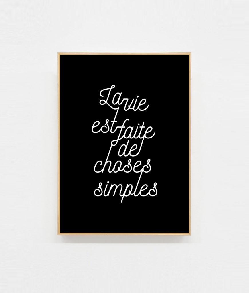 Carte à message la vie est faite de choses simples