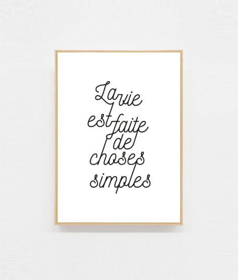 Carte postale à message La vie est faite de choses simples