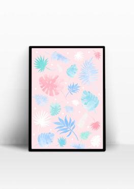 Affiche Botanic pastel