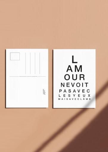 Carte postale L'amour ne voit pas avec les yeux mais avec l'âme