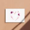 Carte postale a offrir illustration coeur florale