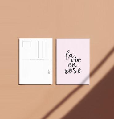 carte a message la vie en rose