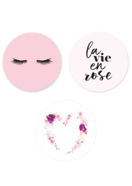 "Lot de 3 magnets ""Girl power"""