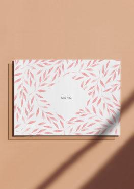 Carte postale de remerciement Merci