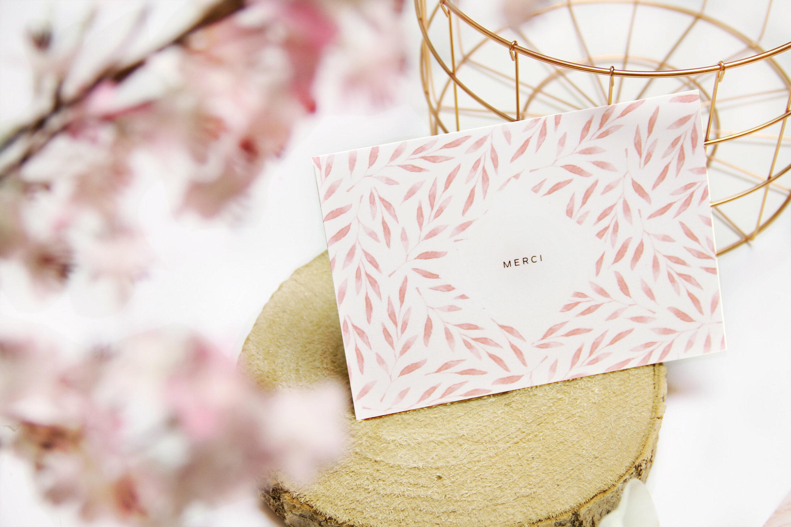 carte postale merci florale