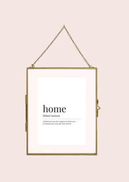 Carte postale Home