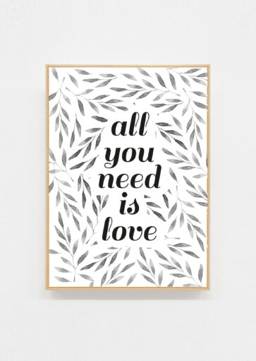 Carte postale All you need is love