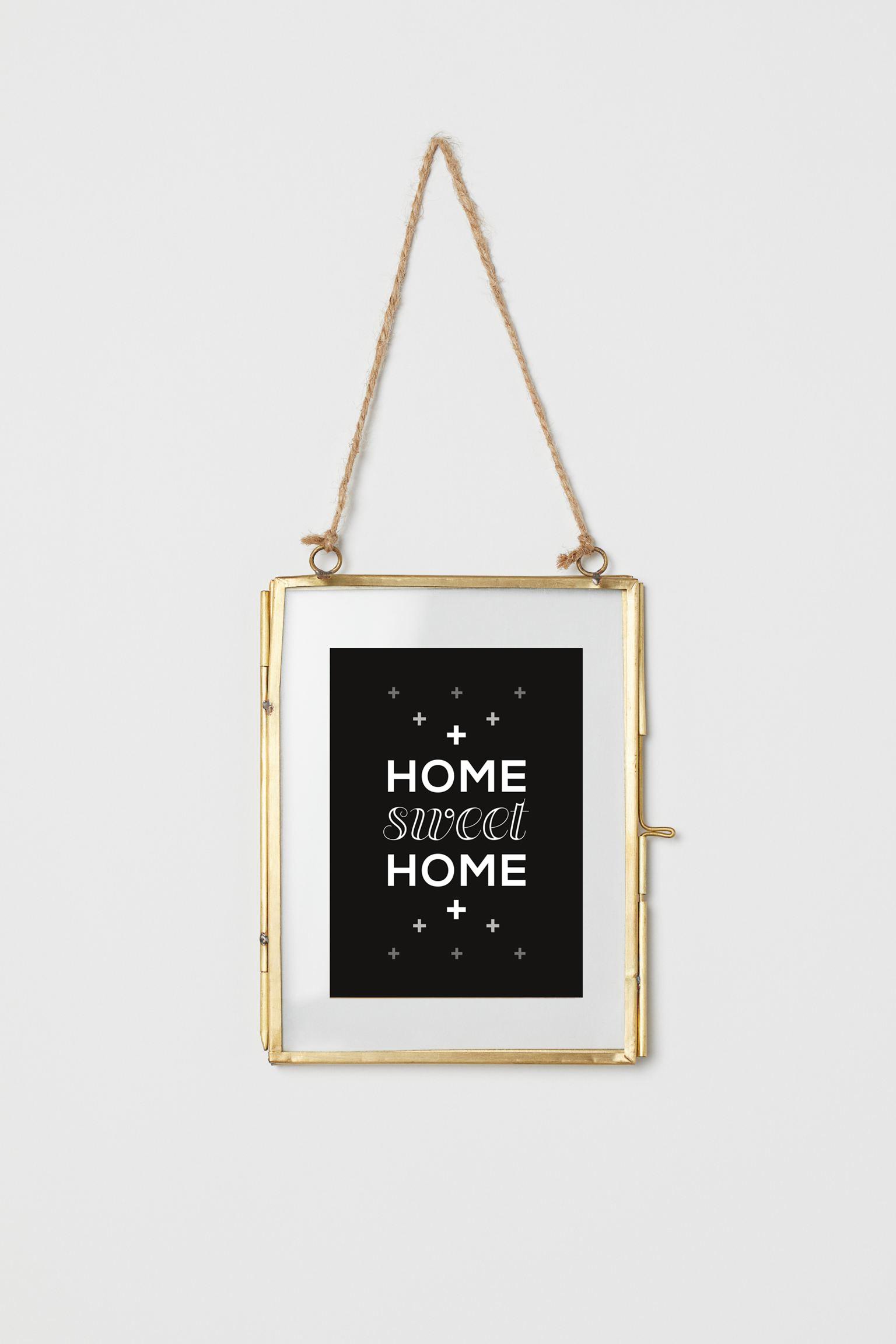cadre deco carte home sweet home