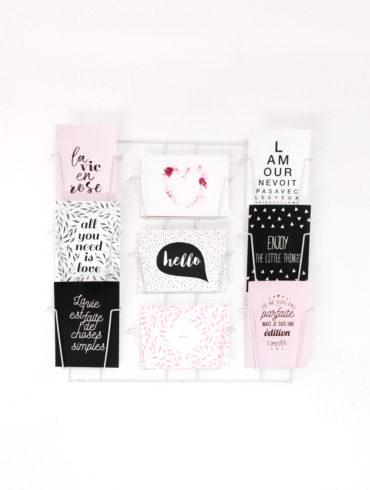 cartes postales decoration interieur message positif