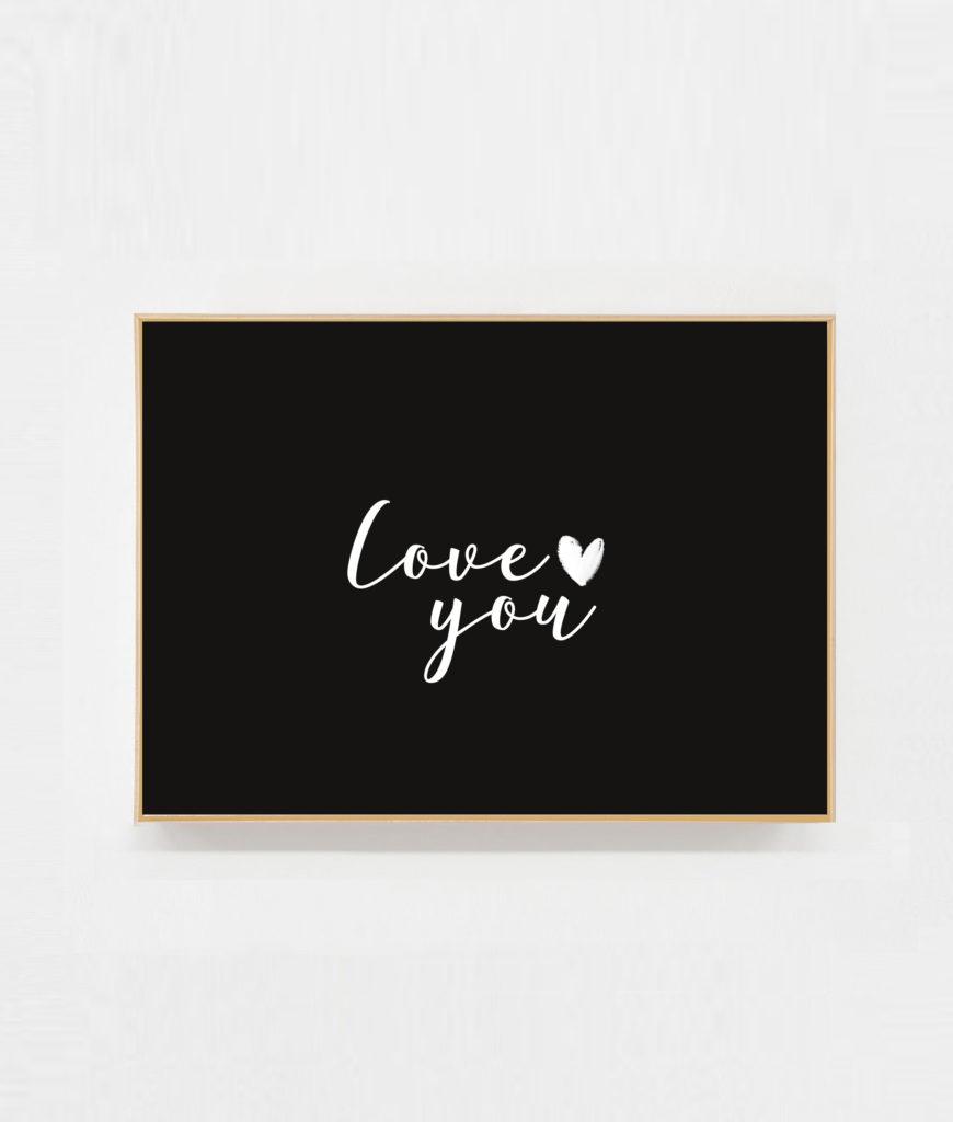 Carte postale à message Love you