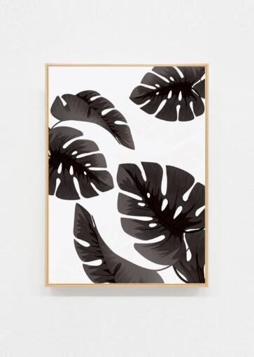 Carte postale Tropical black