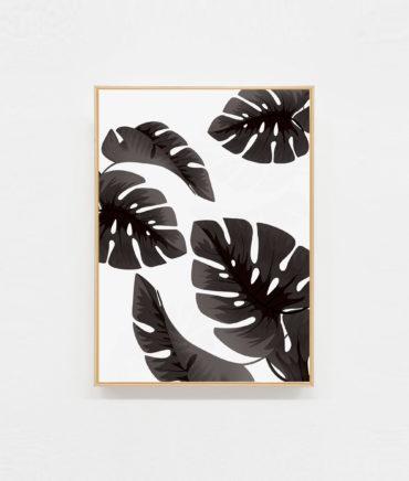 Carte postale illustration palmiers tropical