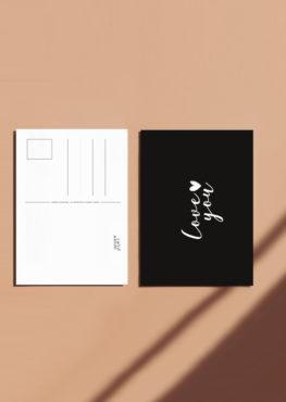 Carte postale Love you