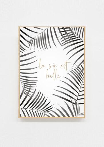 Carte postale La vie est belle Tropical