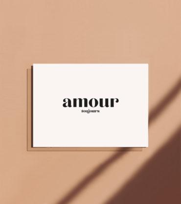 Carte postale message amour toujours