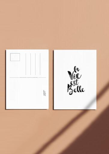 Carte postale La vie est belle