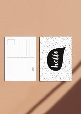 Carte postale Hello