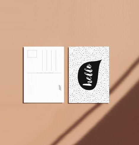 carte postale hello recto verso