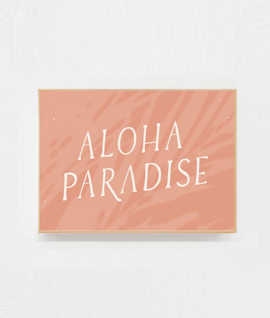 Carte postale deco aloha paradise