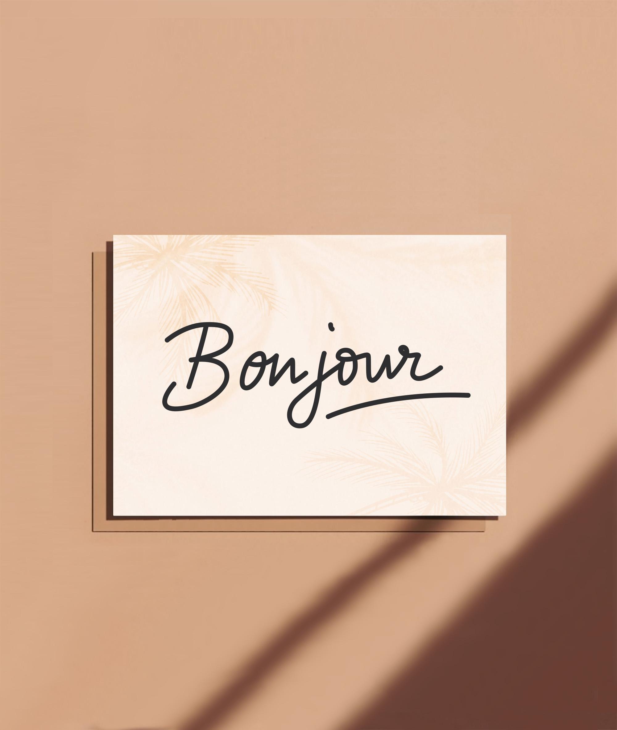 carte bonjour
