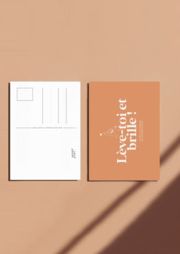 Carte postale Lève-toi et brille !
