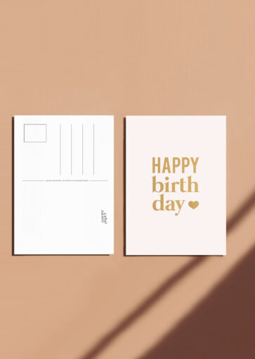 Carte postale Happy birthday