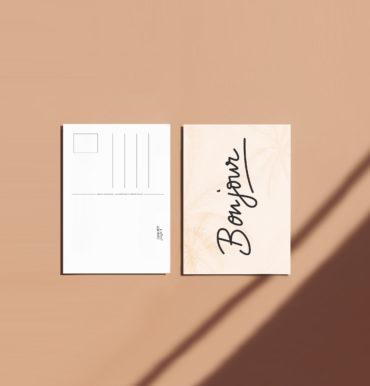 carte postale bonjour deco