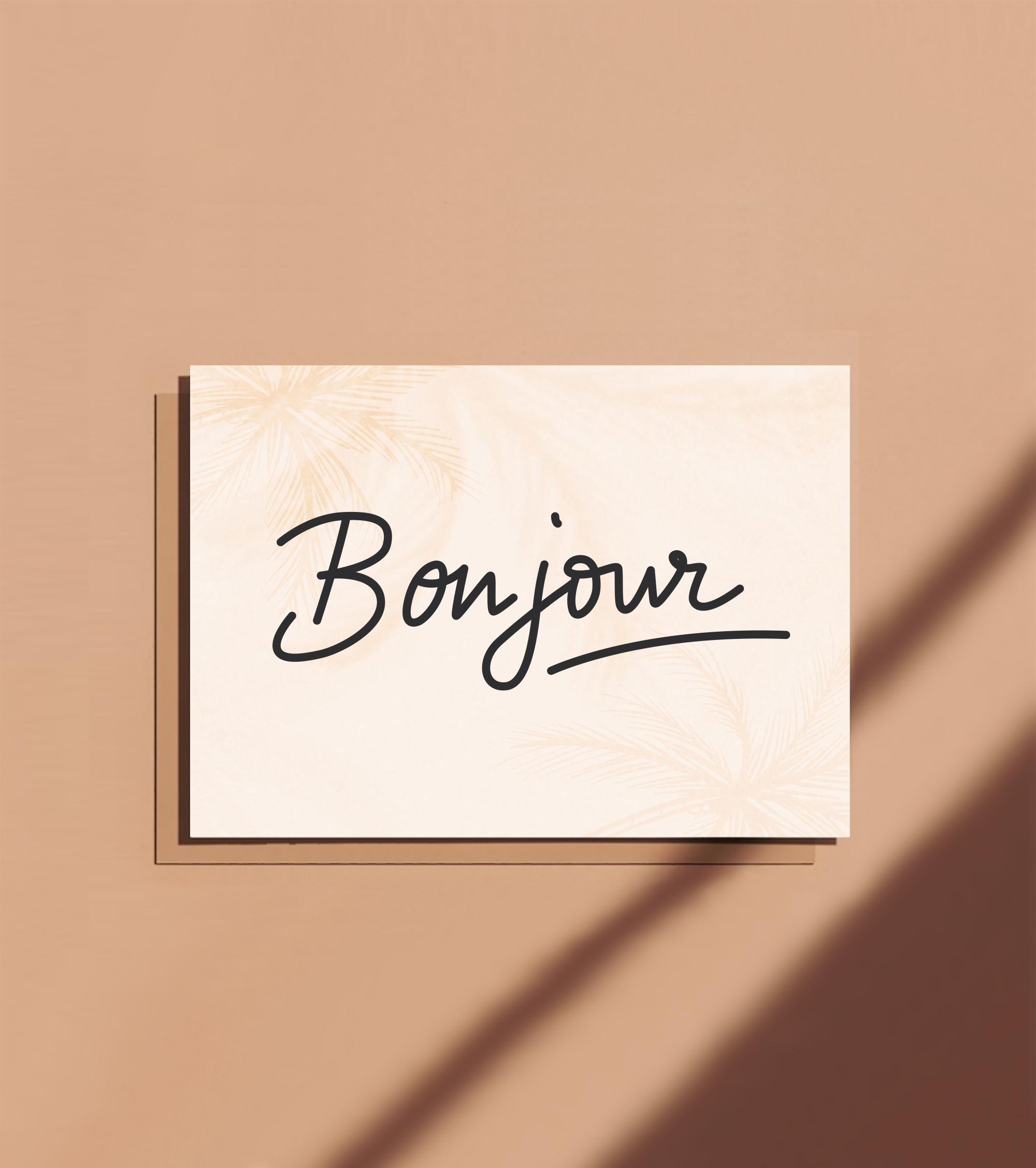 carte postale bonjour motivation