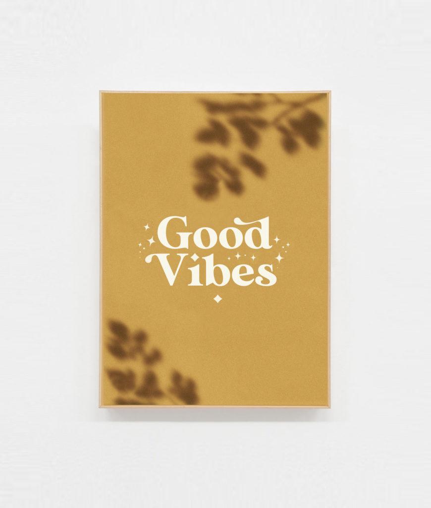 Carte postale positive Good vibes decoration