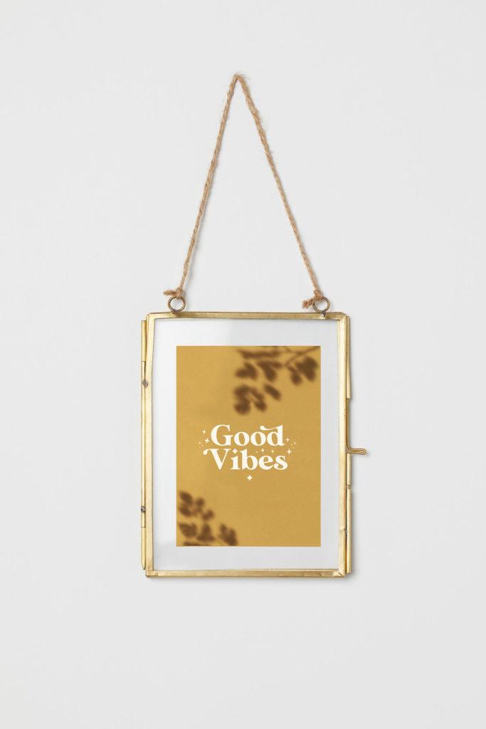 cadre deco carte good vibes